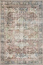 Loloi Loren Collection Vintage Printed Persian Area Rug 5'-0