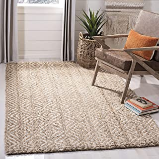 Safavieh Natural Fiber Collection NF185A Handmade Boho Farmhouse Woven Jute Accent Rug, 2' x 3', Ivory