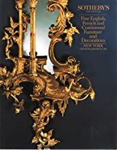 Fine English, French and Continental Furniture and Decorations - Sotheby's New York - January 20, 1990