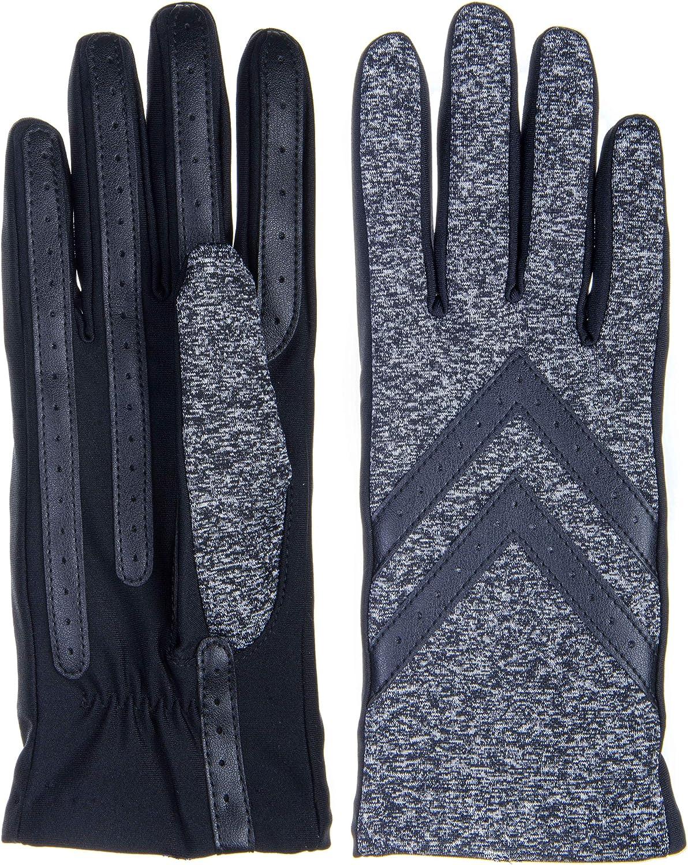 Isotoner Womens Spandex 2.5-Button Length Chevron Gloves - Fleece