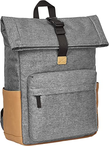 AmazonBasics Anti-Theft Roll Top Backpack - Black