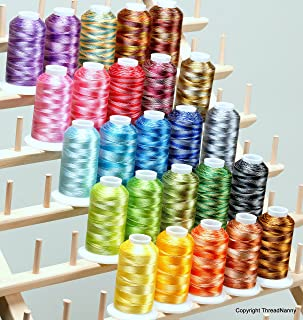 25 LARGE Cones Variegated Embroidery Machine Thread 40wt 1100yards Poly120D/2