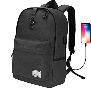 Laptop Backpack-Beyle Anti-theft Water Resistant Travel laptop backpack with USB Charging Port School Bookbag for College Travel Backpack designed for 17-Inchand Notebook,Dark Grey