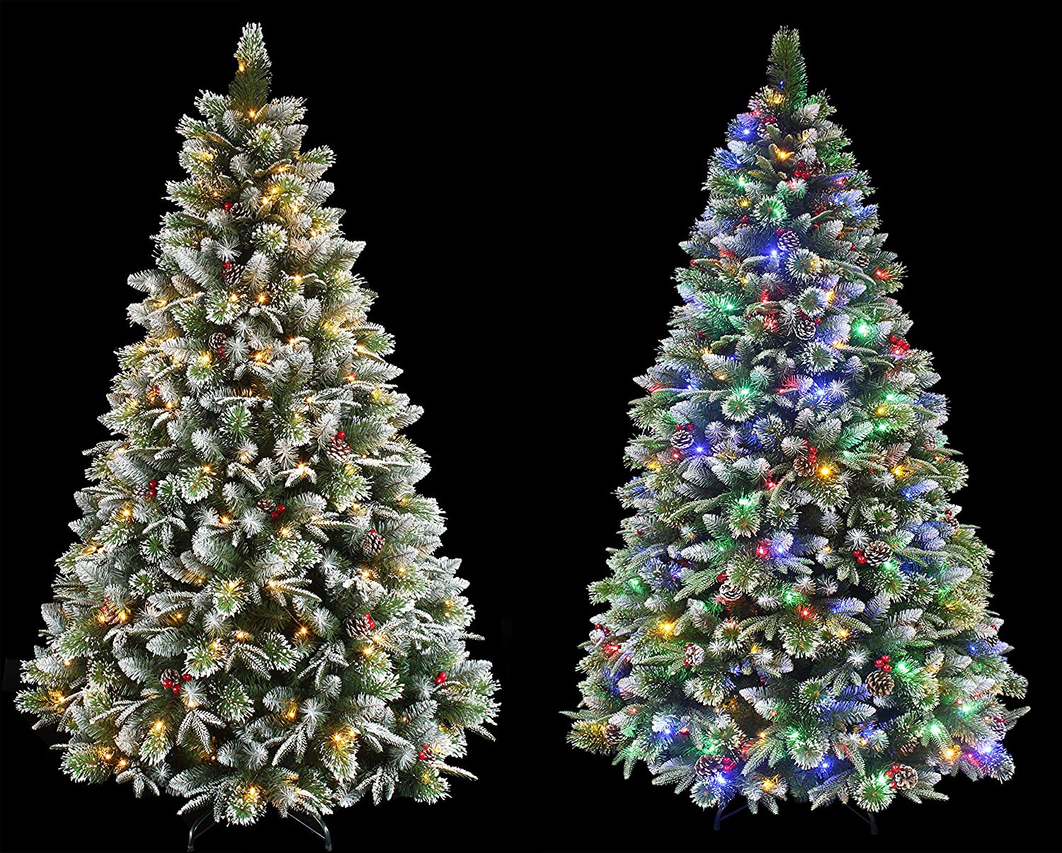 Super Dual Flocked Pine Christmas Color Arlington A surprise price is realized Mall Changi Pre-lit Tree with