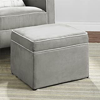 Baby Relax The Abby Nursery Storage Ottoman for Baby Gliders, Grey