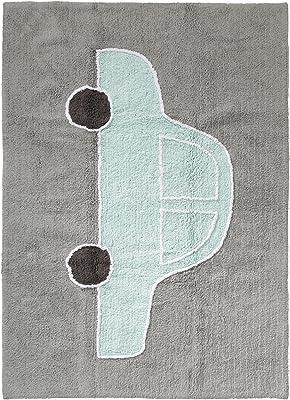 benuta Alfombra Infantil (Bambini Car | Alfombra para de Juego y habitación de los Niños, algodón, Turquesa, 120x160 cm