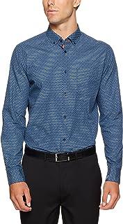 Oxford Men Stratton Printed Shirt, Navy