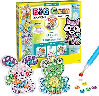 Creativity for Kids Big Gem Diamond Painting Kit - Create Your Own Woodland Forest Friends Diamond Art Stickers and Suncat...
