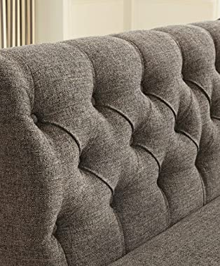Signature Design by Ashley Tripton Upholstered Tufted Back Bench Sette, Graphite