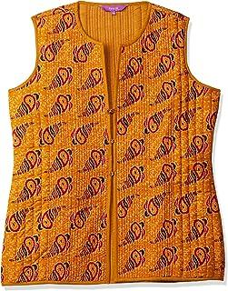 Rangriti Women's Jacket (RMMREVERSIB7543_Mustard_S (34))