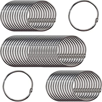 Clipco Book Rings Large 2-Inch Nickel Plated (50-Pack)