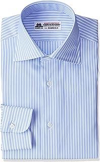 (フェアファクス)FAIRFAX サックスベース白抜きストライプワイドカラーシャツ 7508 13 サックス 42