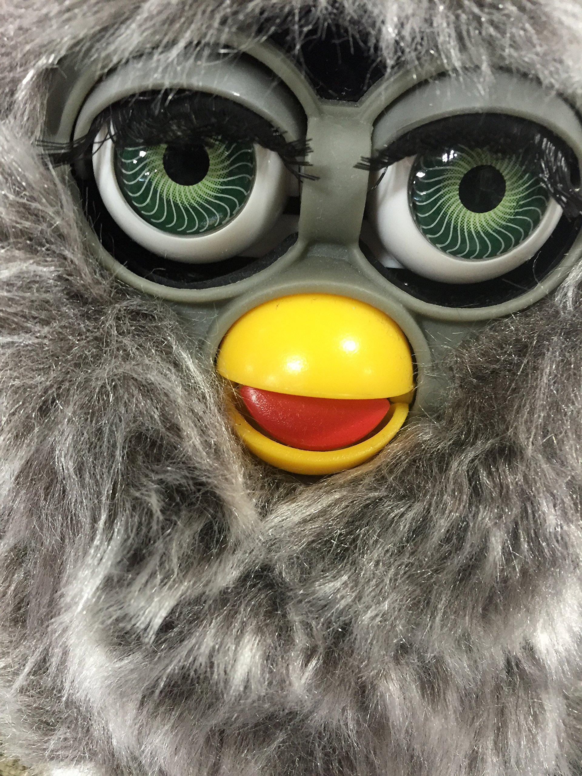 Long Hair Electronic Furbie Furby Model 70-800 Owl Gray Shag