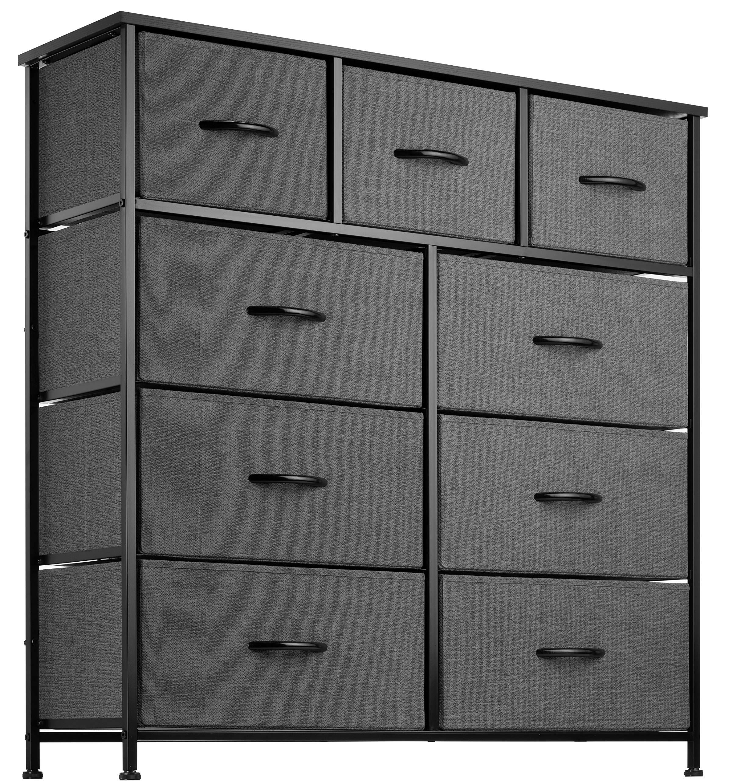 9 Drawer Dresser Organizer Fabric Storage Chest for Bedroom, Hallway, Entryway, Closets, Nurseries. Furniture Storage Towe...