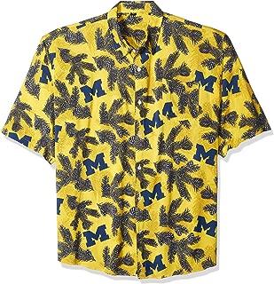 NCAA Mens Floral Button Up Shirt