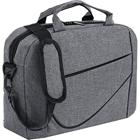 DAHSHA 15.6 inch Laptop Messenger Sling Office Shoulder Travel Organizer Briefcase Water Repellent Fabric Bag Business Carrying Handbag for Men and Women