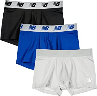 "New Balance Men's 3"" Boxer Brief No Fly, with Pouch, 3-Pack"