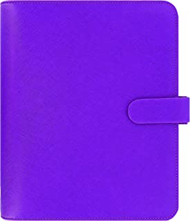 Filofax 2018 Saffiano, Raspberry, Leather Organizer, A5 (8.25 x 5.75), Planner with to do and Contacts Refills, Indexes and notepaper (C022474-18)