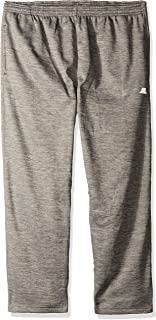 Russell Athletic Men's Big and Tall Poly FLCE Pant W/Side Panel Open Bottom Ron LFT Pkt, Heather Grey/Heather Grey, 4X