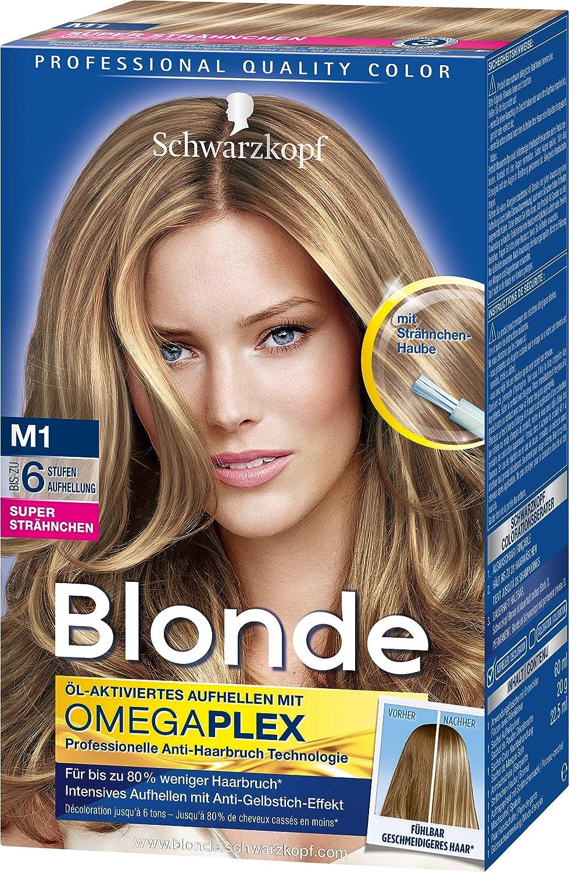 Strähnchen auf blond braune Blond mit