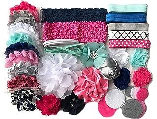 Bowtique Emilee Headband Kit DIY Headband Kit makes over 15 Headbands - Blue and Pink Mini