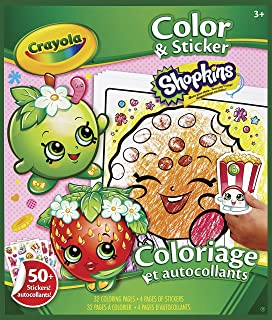 Crayola Color & Sticker Book - Shopkins