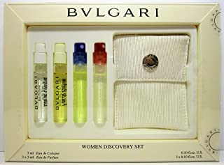 Bvlgari Women Discovery Set with Pouch and Box Sample Set 3ml X 4