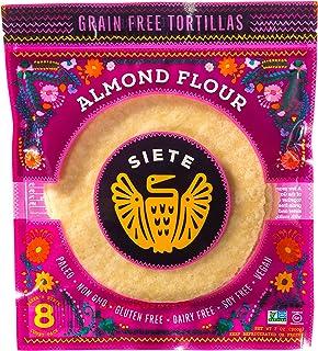 Siete Almond Flour Grain Free Tortillas, 8 Tortillas Per Pack, 3-Pack, 24 Tortillas