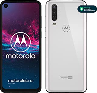 "Motorola One Action, Display CinemaVision 6.3"" FHD+, 128 GB Espandibili, Tripla fotocamera con Action Cam dedicata (12MP+1..."