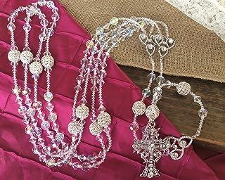 Crystal Wedding Lasso Authentic Swarovski Crystal Ab Finsh 12 Round Cut, Lazo Para Boda,