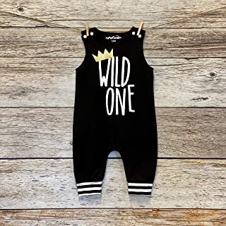 Wild One Romper Personalized 1st Birthday Outfit for Boys.