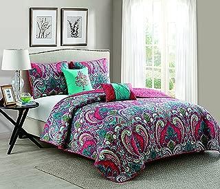 VCNY Home Casa Re'al Damask Reversible 5-Piece Quilt Set, King, Multi