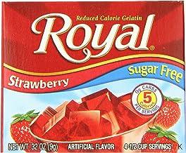 Royal Strawberry Gelatin Dessert Mix, Sugar Free and Carb Free (12 - .32oz Boxes)