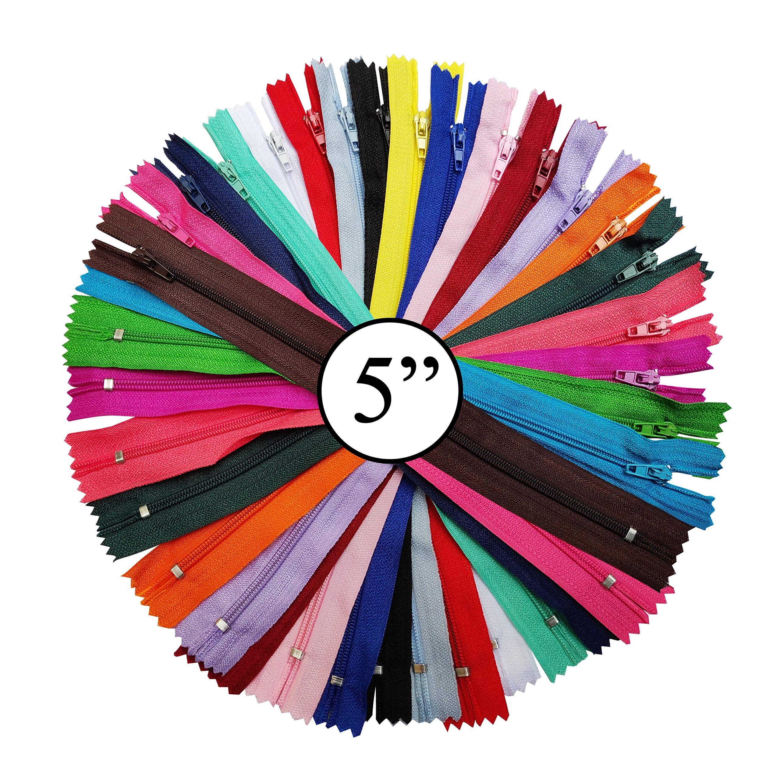 5 pcs//Pack Antique Color KGS 7 inch Metal Zipper #5