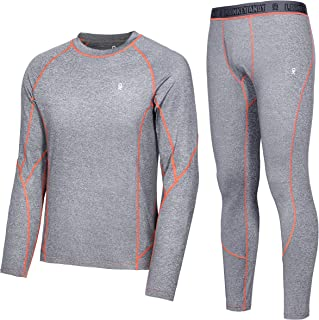 Little Donkey Andy Men's Ultra Soft Thermal Underwear Long Johns Set Top & Bottom Active Performance Base Layer with Fly