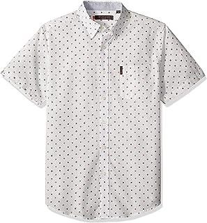 Ben Sherman Men's Ls Mixd Target PRNT Shirt
