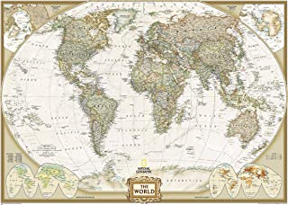 National Geographic: World Executive Mural Wall Map (106.25 x 76.5 inches) (National Geographic Reference Map)
