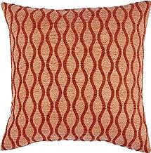 Rivet Mid-Century Wave Throw Pillow - 17 x 17 Inch, Blaze