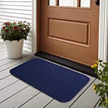 Brandvilla Anti Slip Microfibre Bathmat Doormat for Bathroom Door Entrance Door Mat Home Kitchen Office (40x60 cm, Blue) -Pack of 1