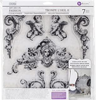 Prima Marketing Iron Orchid Designs Decor Clear Stamps -Trompel feet oeil 2, 12
