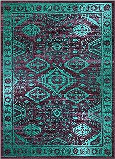Best purple teal rug Reviews