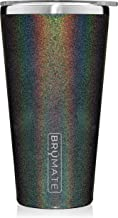Brümate Imperial Pint 20oz Shatterproof Double Wall Vacuum Insulated Stainless Steel Travel & Camping Mug for Beer, Cocktails, Coffee & Tea with Splash-Proof Lid for Men & Women (Glitter Charcoal)