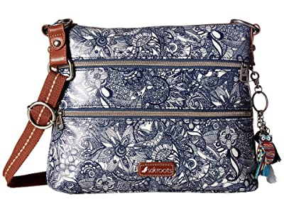 Sakroots Artist Circle Basic Crossbody (Navy Spirit Desert) Cross Body Handbags