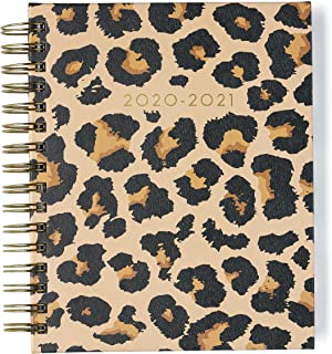 $30 » 2020-2021 Eccolo Spiral Agenda Planner, Cheetah, Hardcover, Weekly & Monthly Views, 18 Months, Sticker Sheets, Full Color Graphics and Quotes. 7.75 x 8.75