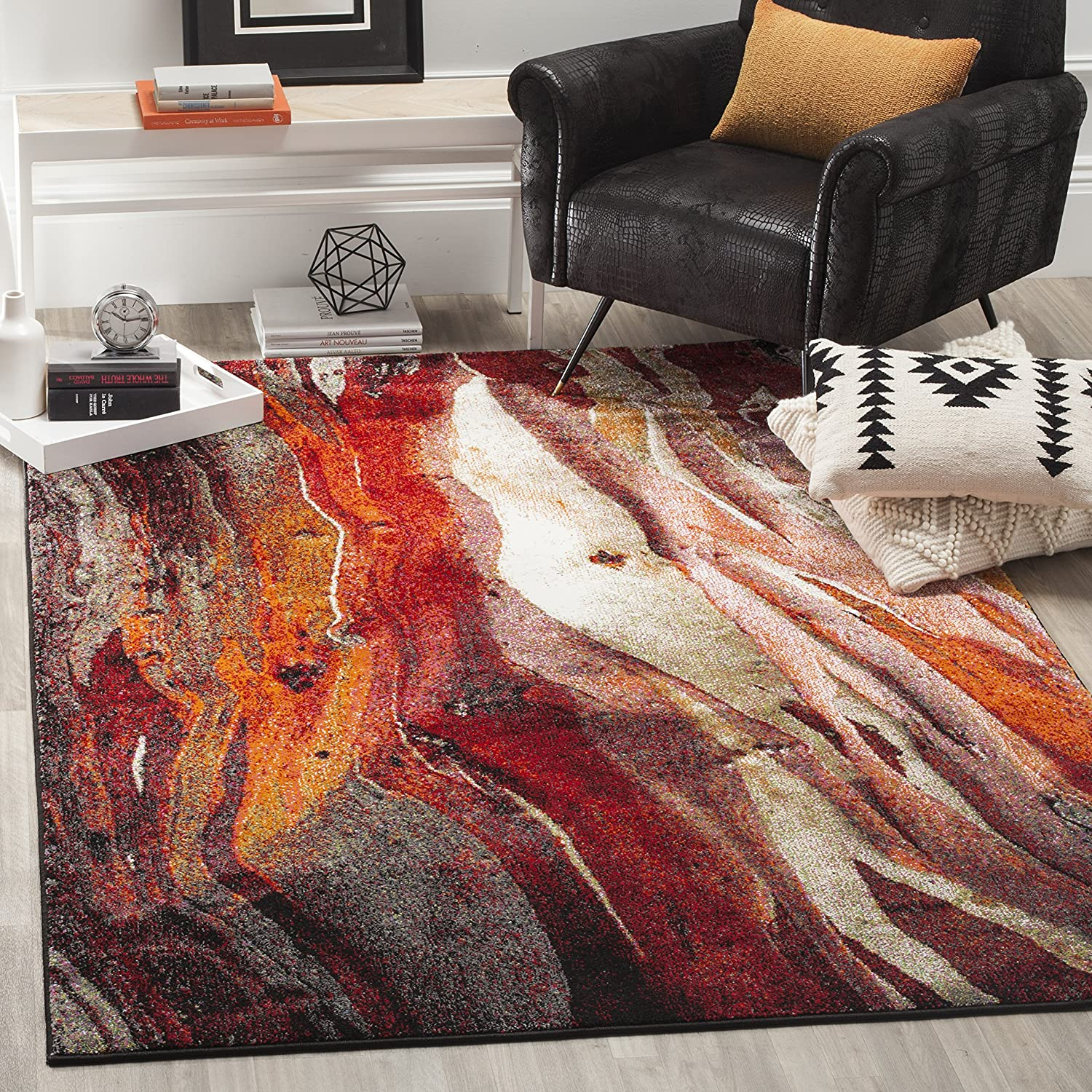 Safavieh Glacier Collection depot GLA126A Over item handling Non-Shedding Modern Abstract