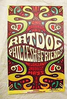 2002 Phil Lesh Ratdog Rat Dog Phish Jazz Fest Concert Poster Autographed By Artist