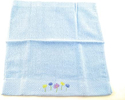 Duke Stevens Blue Daisy Floral Wash Cloth