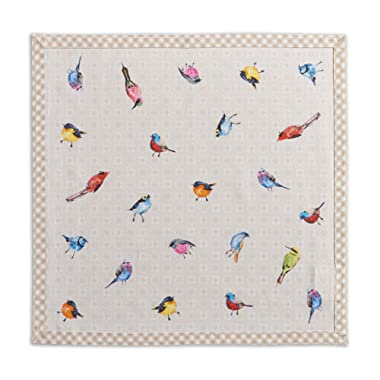 Maison d' Hermine Birdies On Wire 100% Cotton Soft and Comfortable Set of 4 Napkins Perfect for Family Dinners | Weddings | Cocktail | Kitchen | Spring/Summer (20 Inch by 20 Inch).