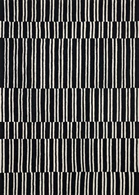 Now House by Jonathan Adler Josef Collection Area Rug, 5' x 7', Ivory and Black