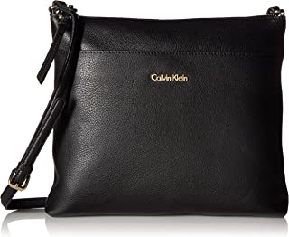 Calvin Klein Women's Lily North South Pebble Leather Crossbody Bag